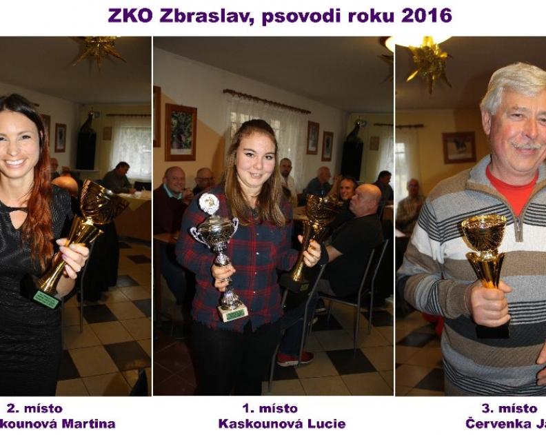 Výsledky soutěže – Psovod roku 2016