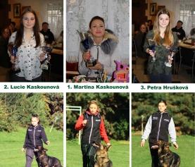 Výsledky soutěže – Psovod roku 2017