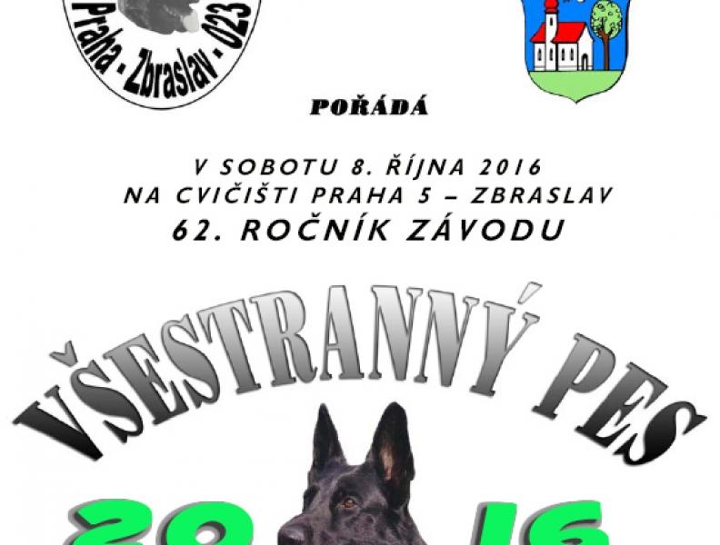 Všestranný pes Zbraslavi 2016 – 8. 10. 2016